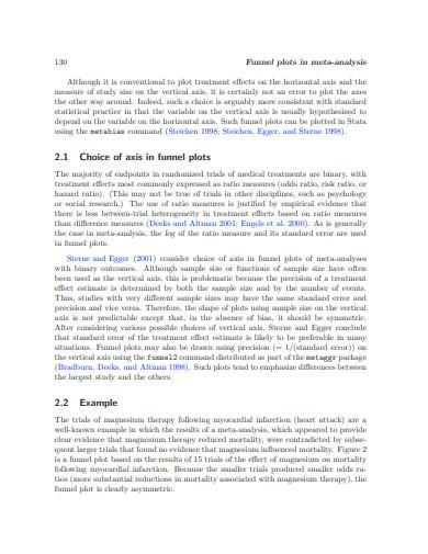 funnel plots in meta analysis
