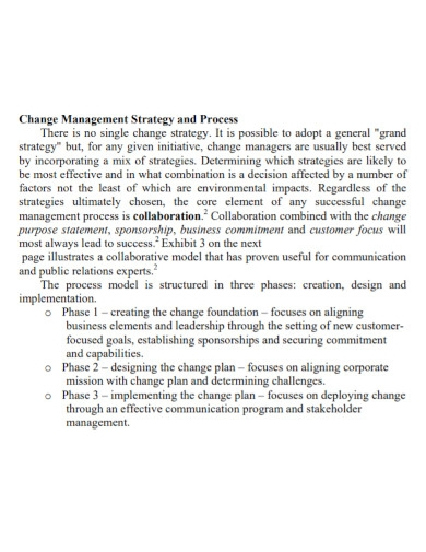 general change management strategy