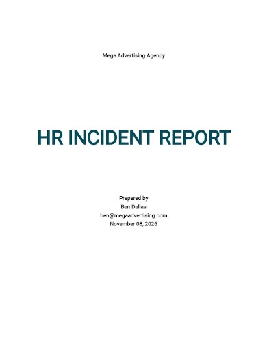 hr incident report template