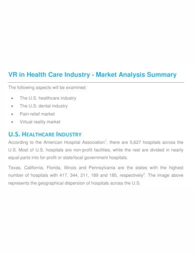 health care industry market analysis
