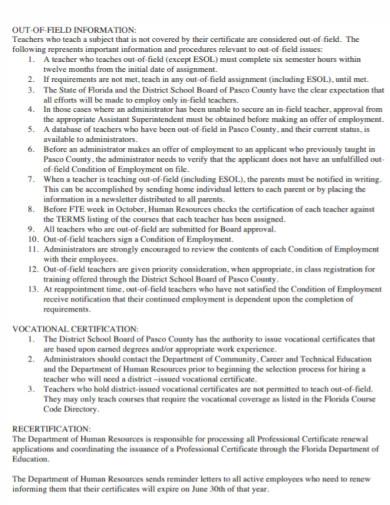 human resource teachers development plan