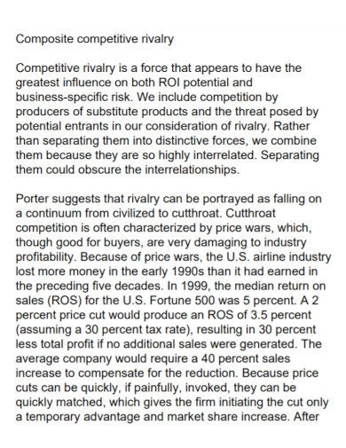 industry competitive market analysis