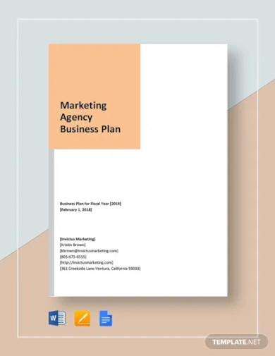 marketing agency business development plan template