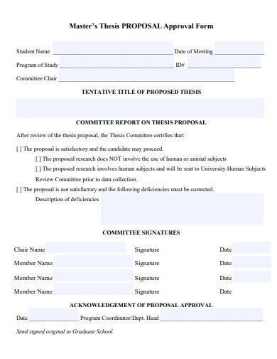 master thesis proposal approval form