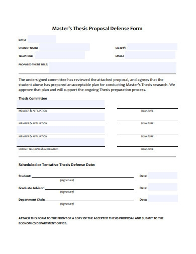 master thesis proposal defense form