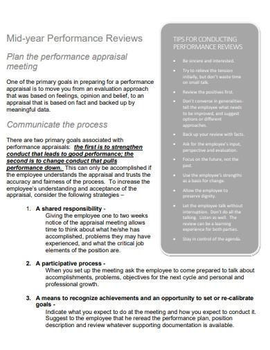 mid year performance review plan