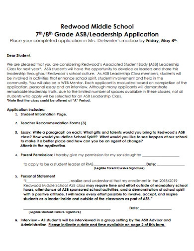 middle school application essay in pdf