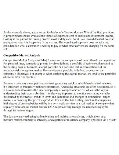 motor insurance competitive market analysis