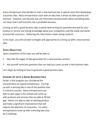 new business development template