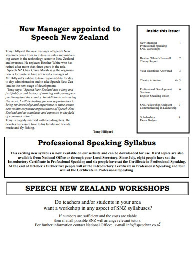 new manager introduction speech in pdf