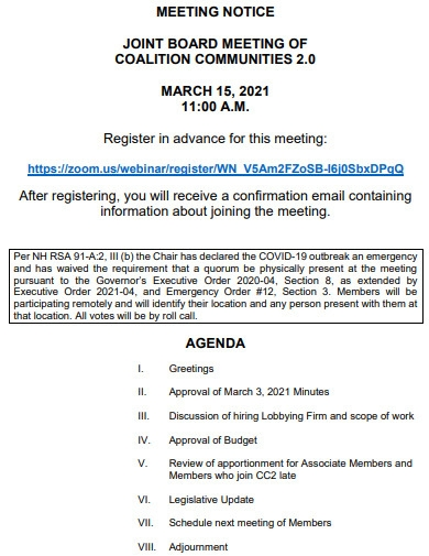 notice of joint board meeting
