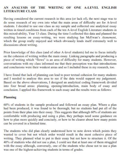 organization literature essay
