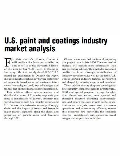 paint and coatings industry market analysis