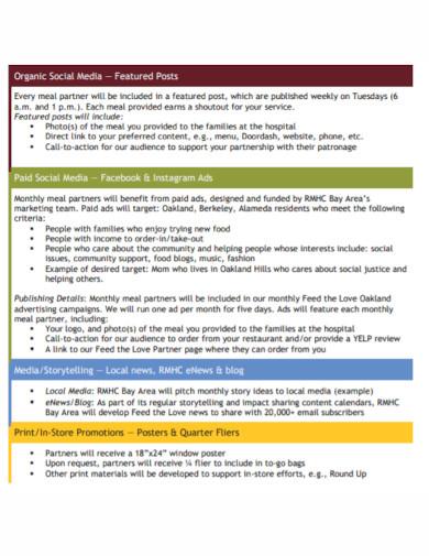 partnership benefits marketing plan