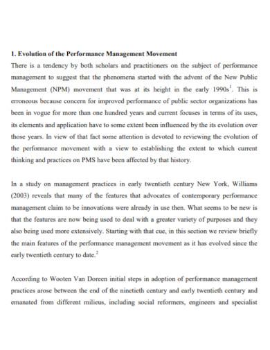 performance management evaluation report