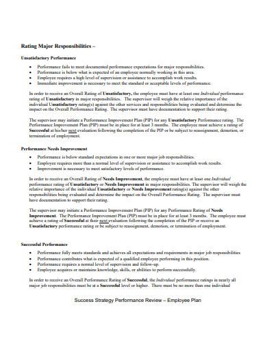 performance review employee plan