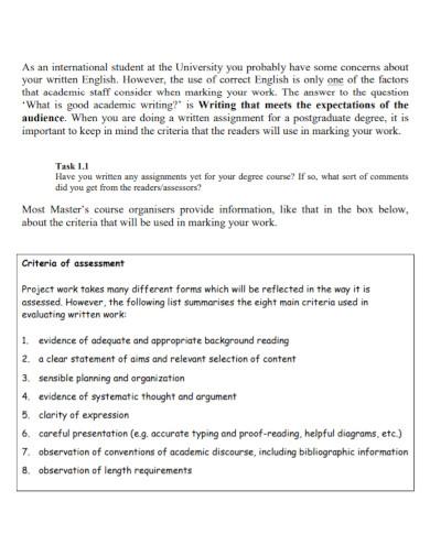 postgraduates short academic essay