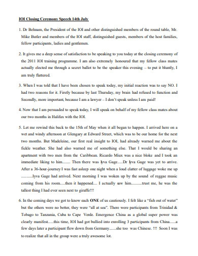 printable closing ceremony speech