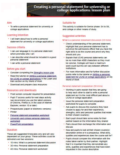 printable college application personal statement