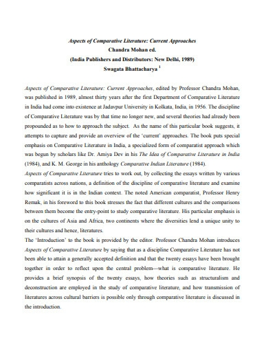 printable comparative literature essay