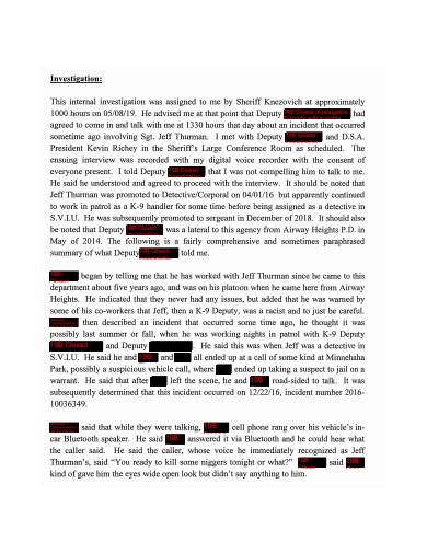 printable confidential investigation report