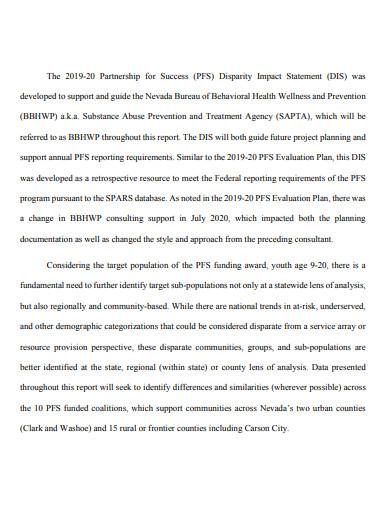 printable disparity impact statement