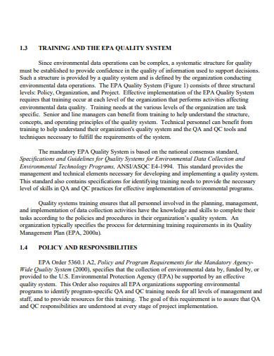 printable quality training plan
