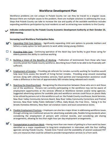 printable workforce development plan