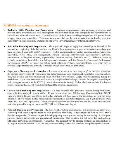 professional students career development plan