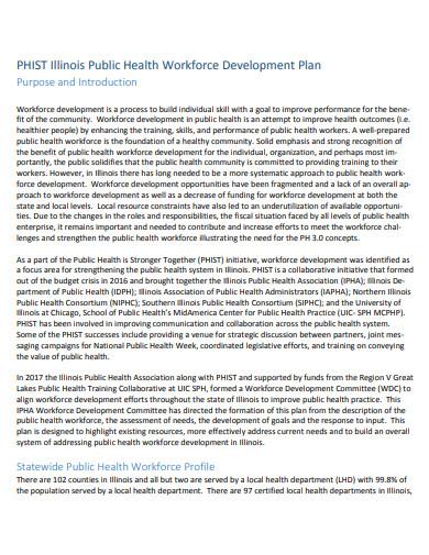 public health workforce development plan