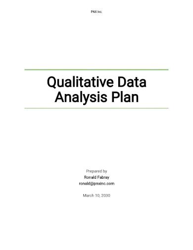 qualitative data analysis plan template