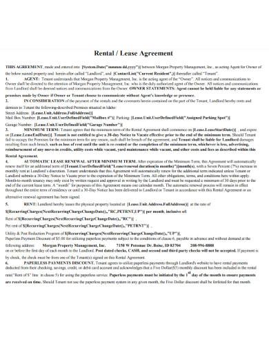 renewal rental lease agreement