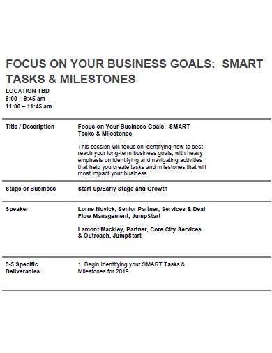 smart business goals format