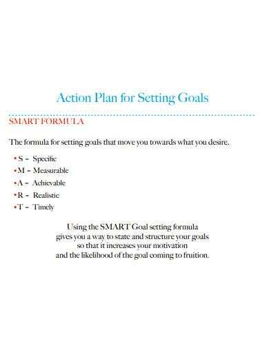 smart formula goal action plan