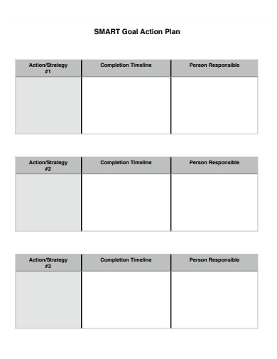smart goal action plan in pdf