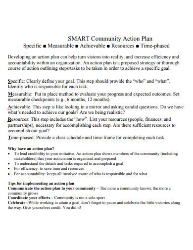 smart goal community action plan
