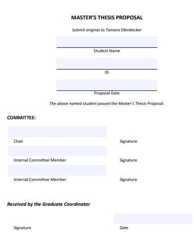 sample master thesis proposal