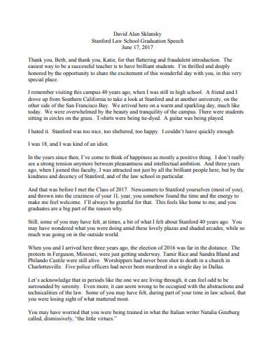school graduation speech essay