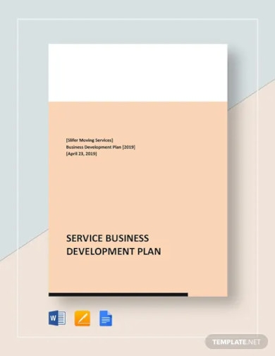 service business development plan template