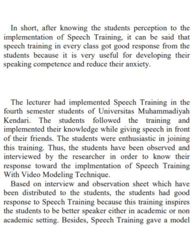 short speech training for students