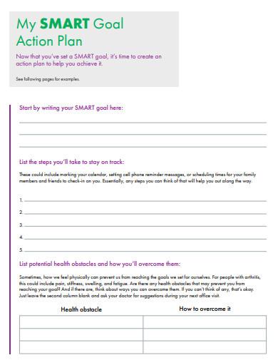 simple smart goal action plan
