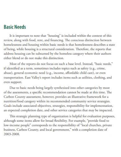 social service needs assessment templates