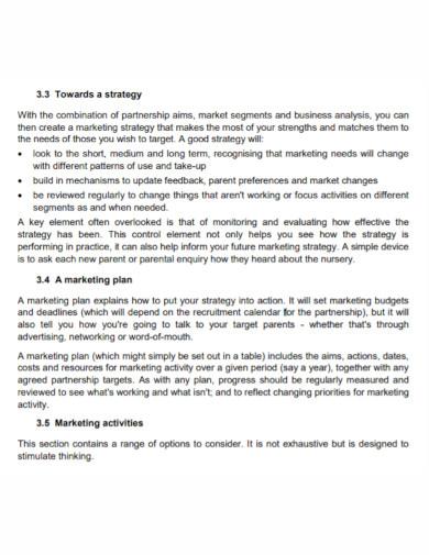 standard partnership marketing plan