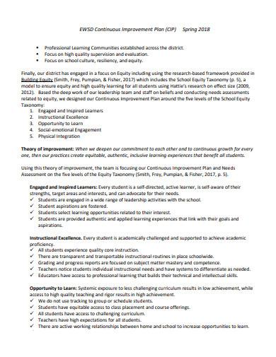 standard teaching improvement plan