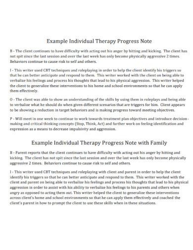 standard therapy progress note