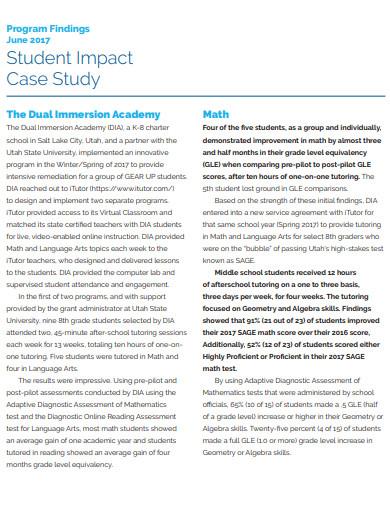 student impact case study