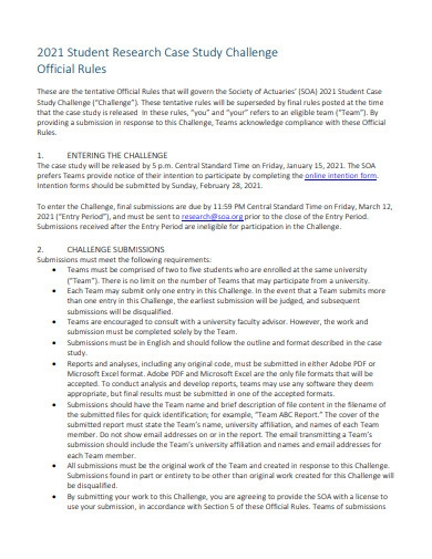 student research case study
