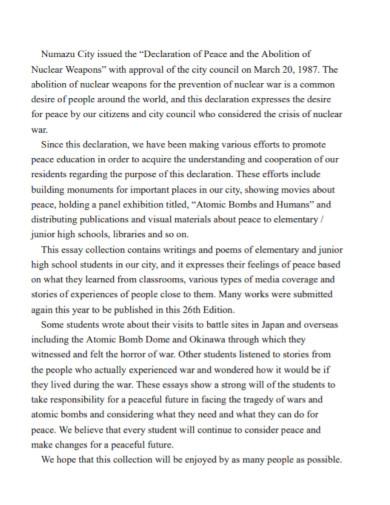 student short elementary essay