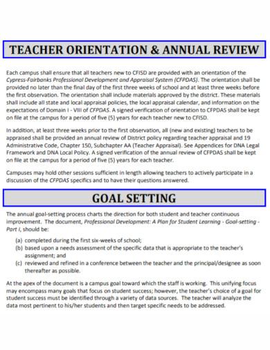 teacher professional development plan