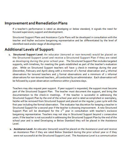 teaching improvement plan in pdf